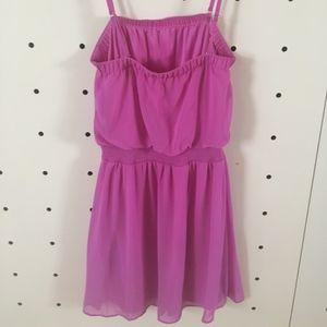 Purple Strapless Summer Dress